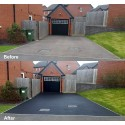 Flag Heavy Duty Anti-Slip Floor Paint on a driveway before & after
