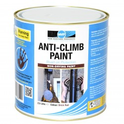 Anti Climb Paint (Anti-Vandal & Anti-Intruder) 2.5 Litres Brick Red
