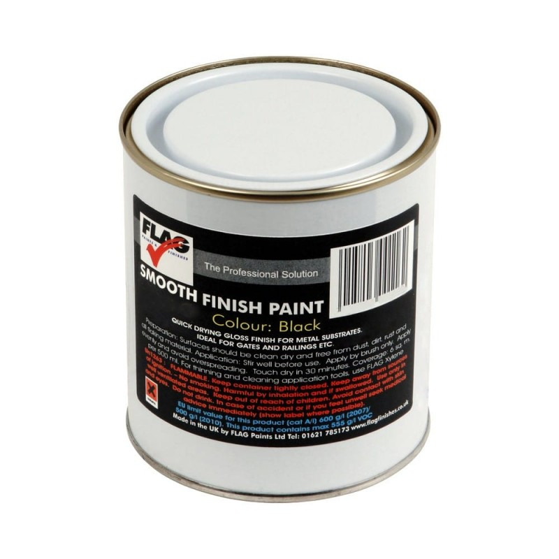 Black Smooth Finish Metal Paint