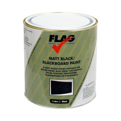 Blackboard Matt Black Paint by Flag paints