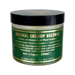 Natural Creamy (Creamed) Beeswax 250ml by Flag Paints in Clear or Dark