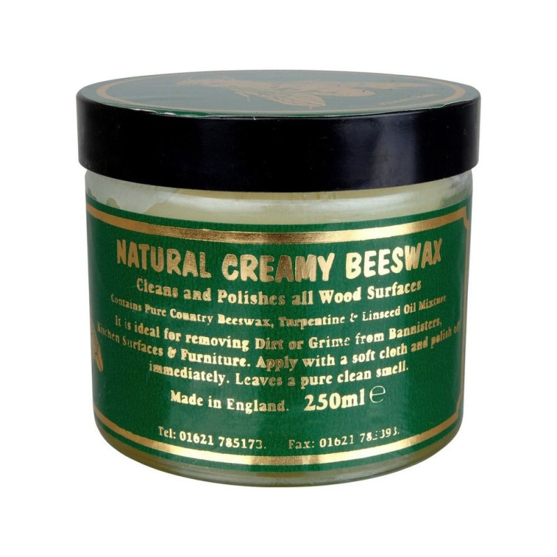 Natural Creamy (Creamed) Beeswax 250ml Clear
