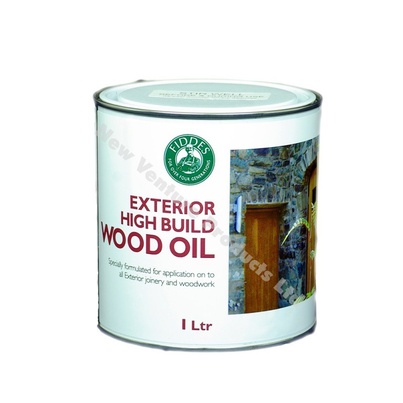 Fiddes Exterior High Build Wood Oil in 1 Litre