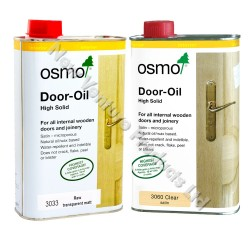Osmo Door Oil in 3060 Clear Satin & 3033 Raw Matt