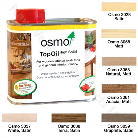 Osmo Top Oil in 7 Different Finishes
