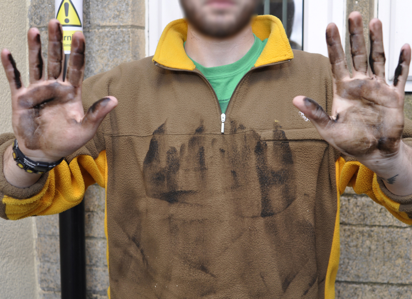 Anti Climb paint on Clothing